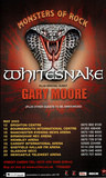 HUGE WHITESNAKE Monsters of Rock Original POSTER hair metal Posters