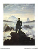 Caspar Friedrich (Wanderer Above the Sea of Fog) Art Poster Print Masterprint