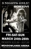 Bon Jovi (Meadowlands Arena, Concert) Music Poster Print Masterprint