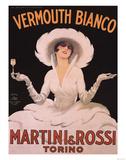 Marcello Dudovich (Vermouth Bianco, Martini & Rossi) Art Print Poster Masterprint
