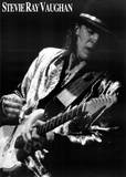 Stevie Ray Vaughan Black and White Music Poster Print Plakater