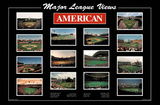 Major League Views American League Ballparks Sports Poster Print Posters