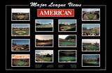 Major League Views American League Ballparks Sports Poster Print Poster