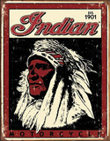 Indian Motorcycle 1901 Logo Tin Sign