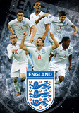 England F.A Stars 3-D Lenticular Sports Poster Print Reprodukcje