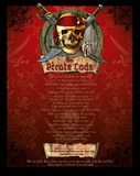 The Pirate Code List (mature wording) Art Poster Print Posters