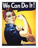 Rosie the Riveter (Female Worker - World War II) Art Poster Print Masterprint