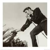 Elvis Presley on Stage Poster von Roger Marshutz