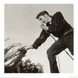 Elvis Presley on Stage Prints by Roger Marshutz