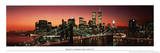 Brooklyn Bridge (New York City Skyline, Panorama) Art Poster Print Poster