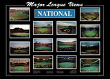 Major League Views National League Ballparks Sports Poster Print Print