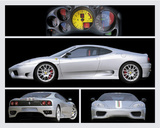 Ferrari 360 (Challenge Stradale) Art Poster Print Print