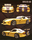 Dodge Viper (GTS-ACR, Yellow) Art Poster Print Posters