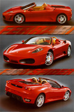 Ferrari (F-430 Spider) Art Poster Print Photo