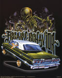 Freaky Behavior (Lowrider & Skeleton) Art Poster Print Photo