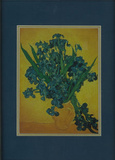 Vincent Van Gogh (Irises) Framed &amp; Double-Matted Art Print Matted Print