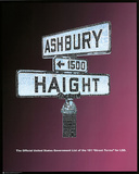 Haight Ashbury (LSD Street Terms) Art Poster Print Posters