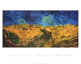 Crows Over the Wheat Fields Poster van Vincent van Gogh