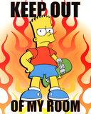 The Simpsons Keep Out Of My Room Bart Simpson TV Poster Print Pôsters
