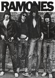 Ramones (Group B&W) Music Poster Print Photo