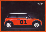 Mini Cooper (Red, Dukes of Hazzard) Lobby Card Art Postcard Print Prints