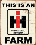 This is an IH Farm Tin Sign