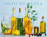 Olio di Oliva (Olive Oil Bottles) Art Poster Print Posters