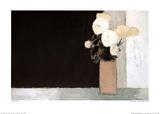 Bouquet de roses sur un fond noir Posters par Bernard Cathelin