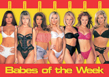 Babes of the Week, 7 Sexy Girls, Photo Print Poster Print