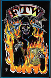 FTW Grim Reaper Blacklight Poster Print Photo