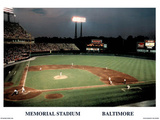 Ira Rosen Baltimore Orioles Memorial Stadium Sports Poster Print Posters