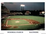 Ira Rosen Baltimore Orioles Memorial Stadium Sports Poster Print Posters