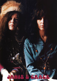 Janis Joplin and Grace Slick Music Poster Print Posters