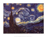 Vincent Van Gogh (Starry Night) Art Poster Print Masterprint