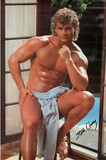 Male Model, Steve Cleary, Pose with Towel, Photo Print Poster Fotografia
