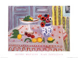 Pink Tablecloth Art by Henri Matisse