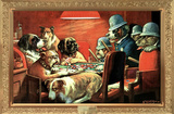 C. M. Coolidge (Pinched with Four Aces, Dogs Playing Poker) Art Poster Print Posters
