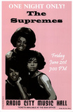 The Supremes (Radio City Music Hall) Music Poster Print Masterprint