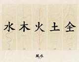 Feng Shui (Asian Calligraphy) Art Print Poster Print