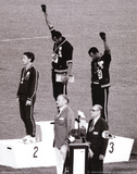 Black Power (Tommie Smith & John Carlos, Olympics, 1968) Photo Print Poster Lámina maestra