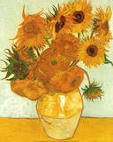 Vincent Van Gogh (Vase with Twelve Sunflowers, Les Tournesols) Art Poster Print Photo