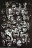 Rap Gods (Rapper Collage) Music Poster Print - Afiş