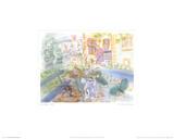 Unser Haus in Montsaunes Poster von Raoul Dufy