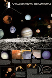 Voyager's Odyssey Educational Science Space Chart Poster Print Posters