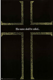 God Cross Names Art Print Poster Prints