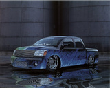 2004 Nissan Titan Blue Truck Art Print Poster Prints