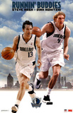 Dallas Mavericks Dirk Nowitzki Steve Nash Runnin' Buddies Sports Poster Print Prints
