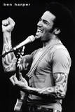 Ben Harper (Singing, Fist in Air) Music Poster Print Prints