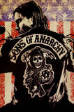 Sons of Anarchy Logo Flag TV Poster Print Kunstdruck