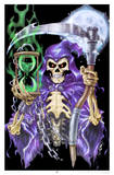 Time Keeper Grim Reaper Blacklight Poster Print Posters